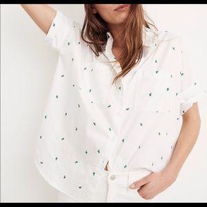NWT Madewell Button Down Cactus Shirt, M